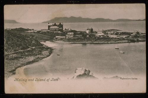 Mallaig and Island of Rum.