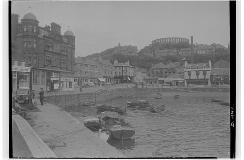 Harbour and McCaig Tower, Oban.