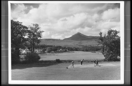 The Golf Course and Goatfell (Height 3866ft), Brodick, Ilse of Arran