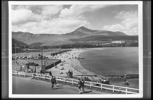 The Beach and Goatfell (Height 2866ft), Brodick, Isle of Arran.