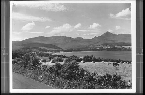 Brodick Bay and Goatfell (Height 2866ft) from Corriegilles Road, Isle of Arran.