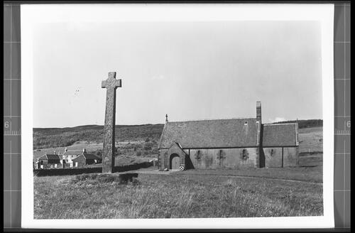 Kiel Church and the Celtic Cross, Lochaline.