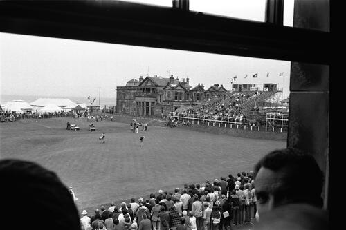 The 18th green, St Andrews.