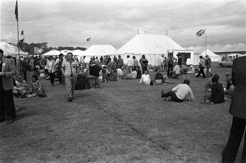 The tented village.