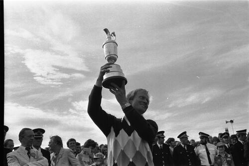 Jack Nicklaus & the Claret Jug.