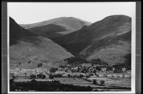 Ochil Hills and Alva from South.
