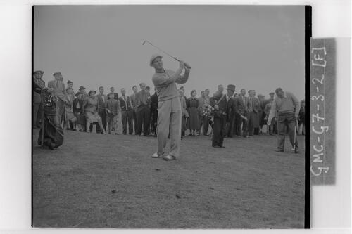 Peter Thomson (Australia) during his practice round at Carnoustie, the Open Championship, 1953.