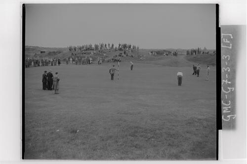 Practice round at Carnoustie, the Open Championship, 1953.