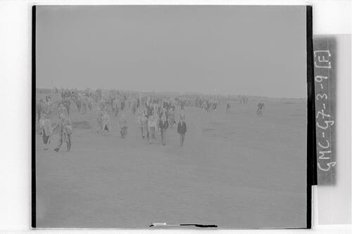 The Crowds on the links at Carnoustie during the Open Championship 1953.