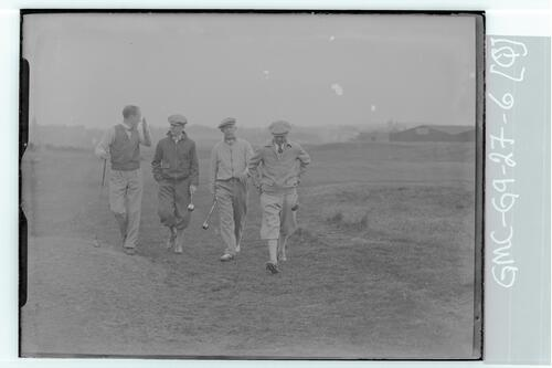 The Walker Cup Match 1934, Golfers on the Old Course, St Andrews.